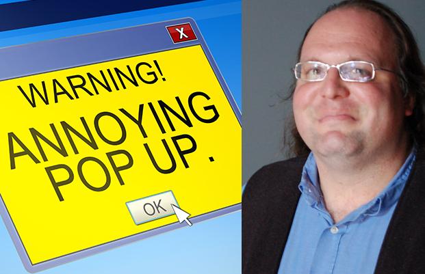 L'inventeur des pop-up s'excuse pour le mal qu'il a fait.
