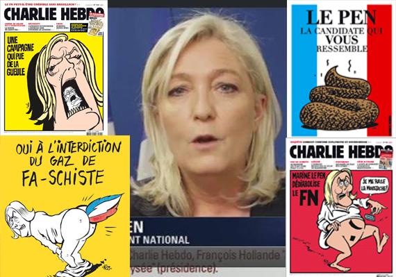 """Marine Le Pen: """"Je n'aurais jamais pensé que Charlie Hebdo me ferait gagner 2017"""""""