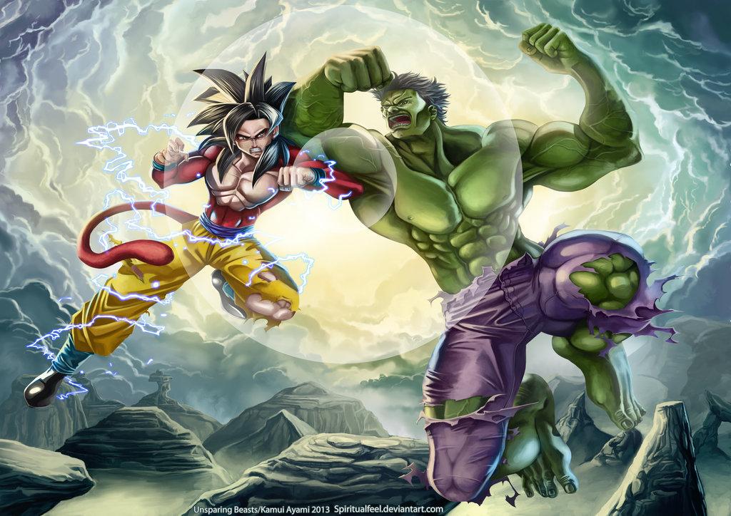 unsparing_beasts__goku_vs_hulk__by_spiritualfeel-d6lngej22