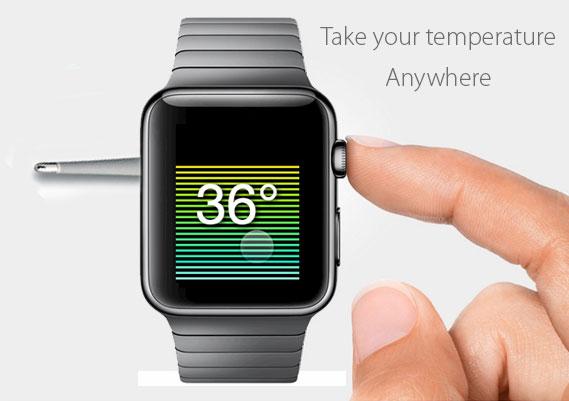 Apple Lors De Sa Keynote Du 9 Mars A Annonce Avoir Ajoute Un Thermometre Sur La Version Acier Premium 1049EUR Son Watch