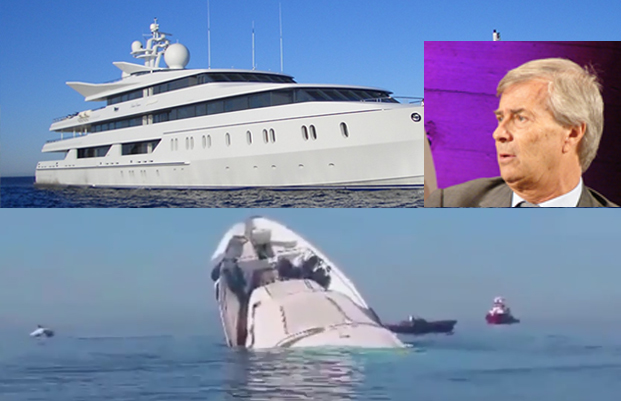 Le Yacht de Vincent Bolloré pris pour un bateau de