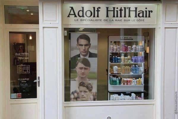 Adolf hitl 39 hair le salon de coiffure qui ne fait pas fureur for Porte revue salon de coiffure