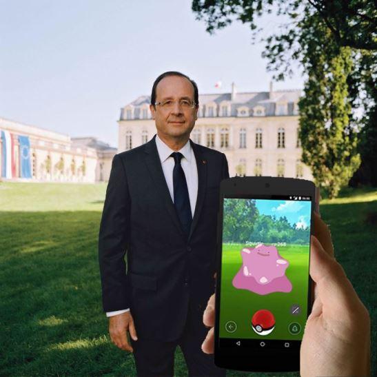 PokemonGoFrancoisHollandeMetaMorphElysees