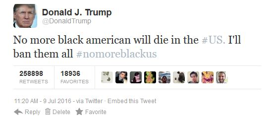 Trump-NoMoreBlackKilledinUs_Tweet
