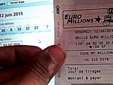 EuroMillions Billet Gagnant J'ai de le Chance