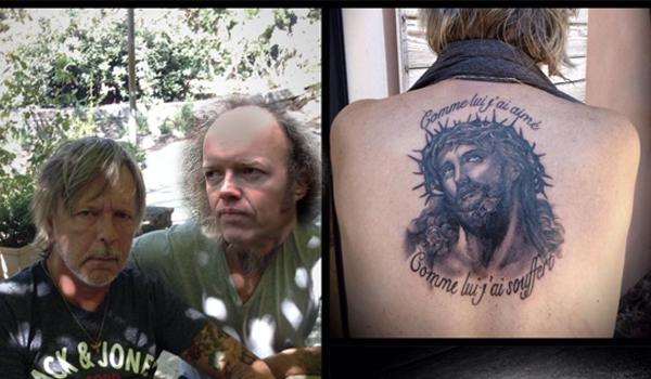 Le tatouage de Renaud ne présente pas Jésus mais Sylvain Durif, alias le Christ Cosmique