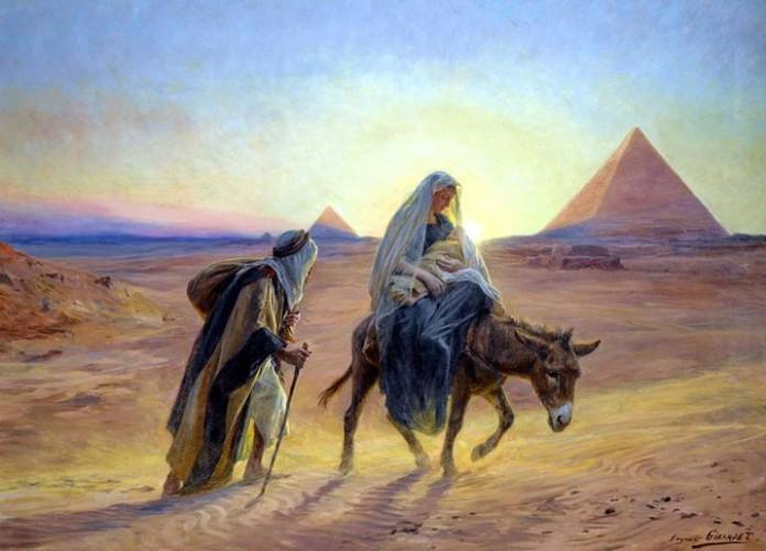 LE LIVRE D'HEURES DE LA REINE ANNE DE BRETAGNE (vers 1503) TRADUIT DU LATIN par M. L'ABBÉ DELAUNAY – Paris - 19 eme sièc Jesus-in-Egypt-696x501