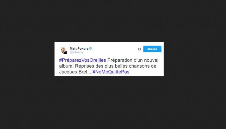 Attention les oreilles, Matt Pokora va reprendre des titres de Jacques Brel !