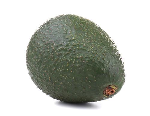 Avocado, isolated on white