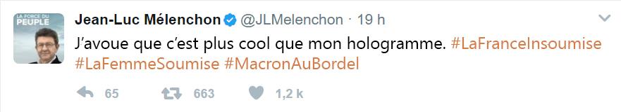 mélenchon tweet