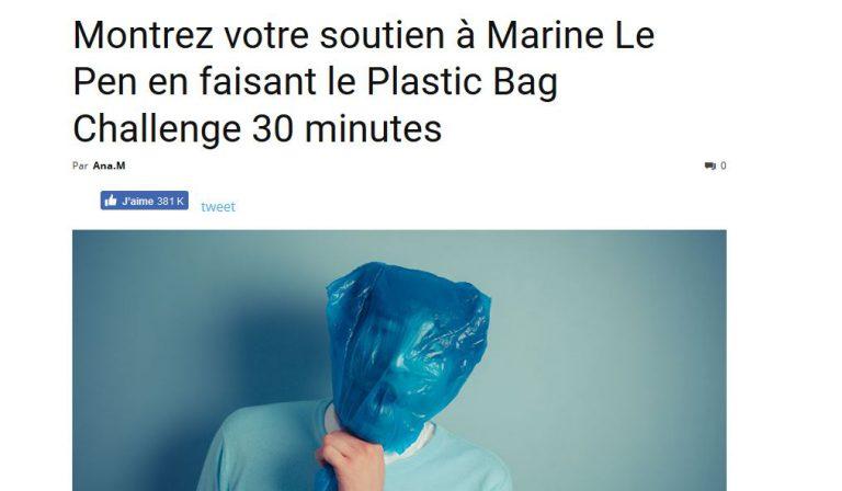 La chute vertigineuse du FN est essentiellement due au Plastic Bag Challenge lancé par Nordpresse