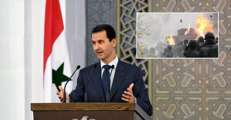 Bashar Al-Assad demande à Trump de cesser les violences sur son peuple.