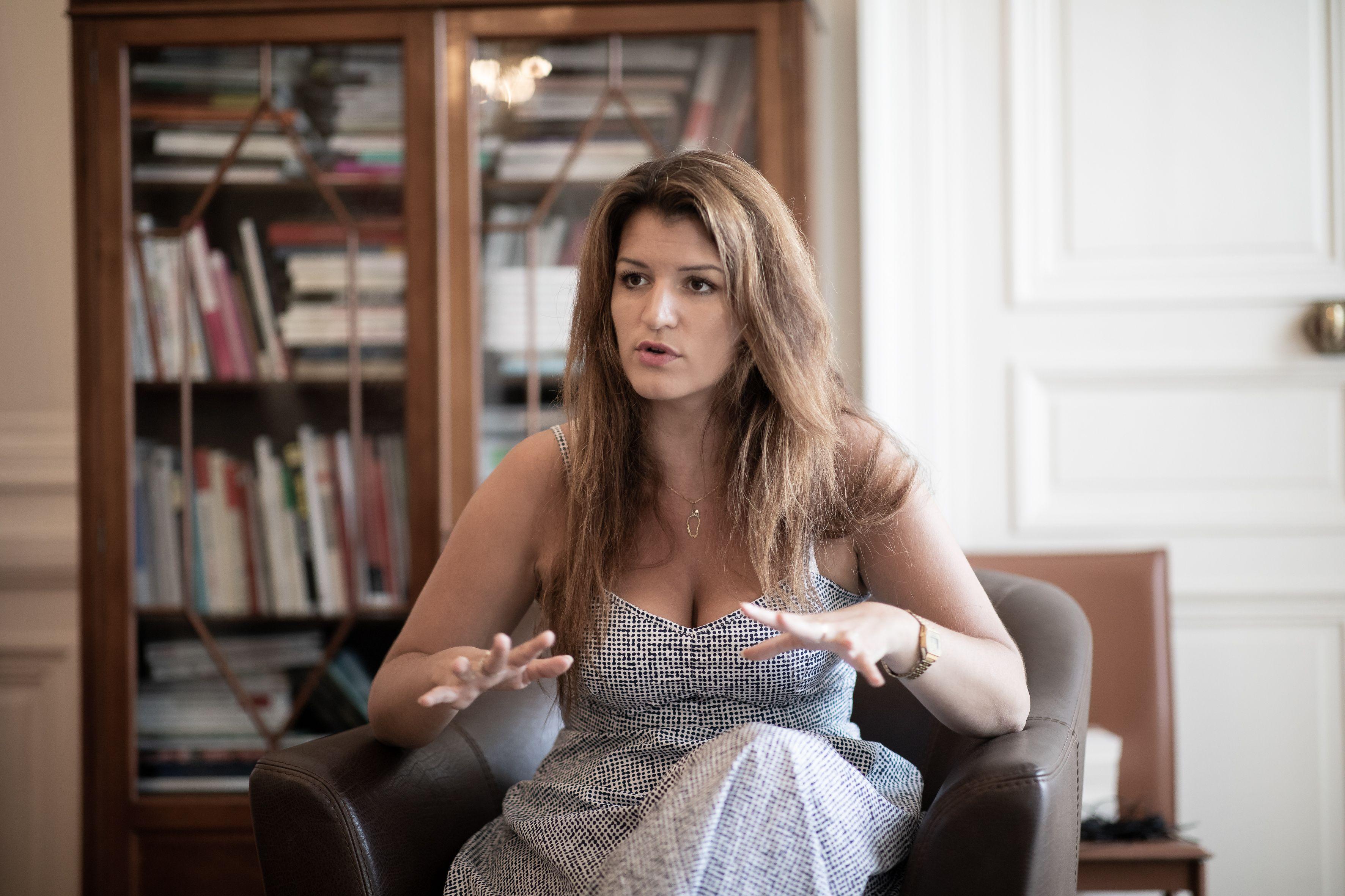 Marlene Schiappa, secretaire d'Etat chargee de l'egalite femmes-hommes, dans sons bureau rue Saint Dominique.