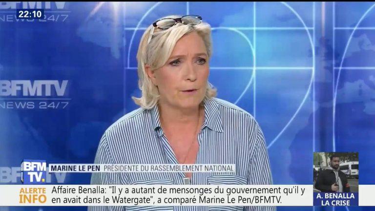 Le Pen attend de connaître la couleur de l'assaillant avant de venir sur BFMTV