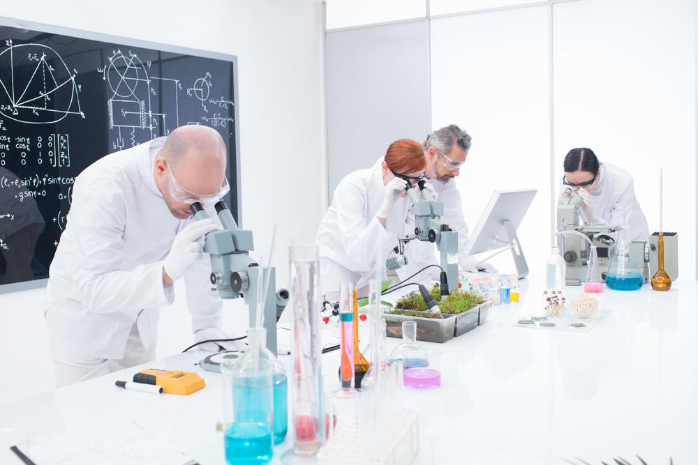 under microscope analysis