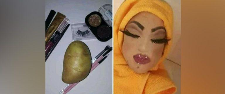 Béziers: Une pomme de terre maquillée et voilée déclenche un vent de panique