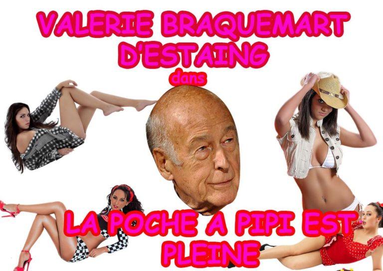 Valérie Giscard d'Estaing se lance dans le porno et devient Valérie Braquemart d'Estaing
