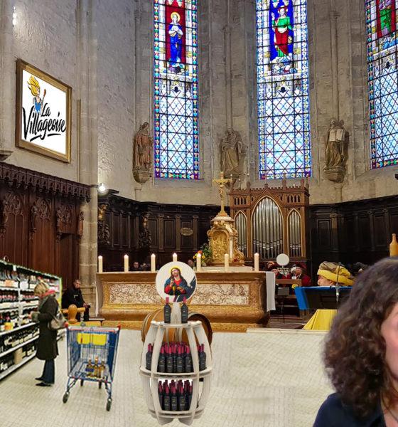 """Pour rester ouvertes, des églises proposent désormais du vin de messe à ses """"clients"""""""