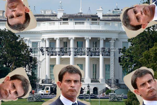 Manuel Valls investit la Maison Blanche